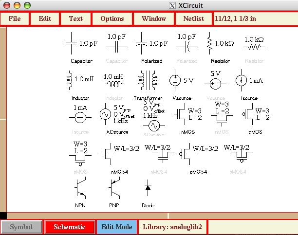 xcircuit templates
